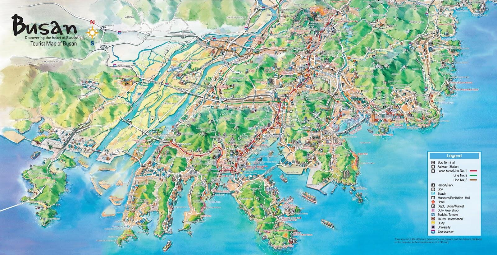 Liburan ke Korea - Busan Tourist Map