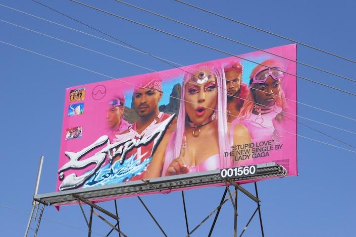 Lady Gaga Stupid Love billboard
