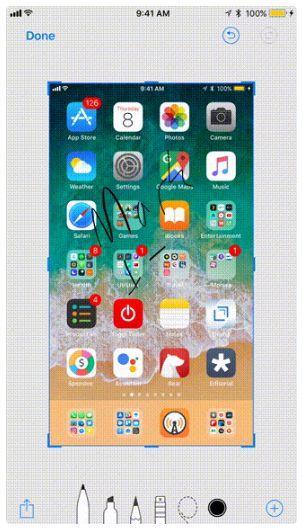 screenshot iphone 5s ios 11