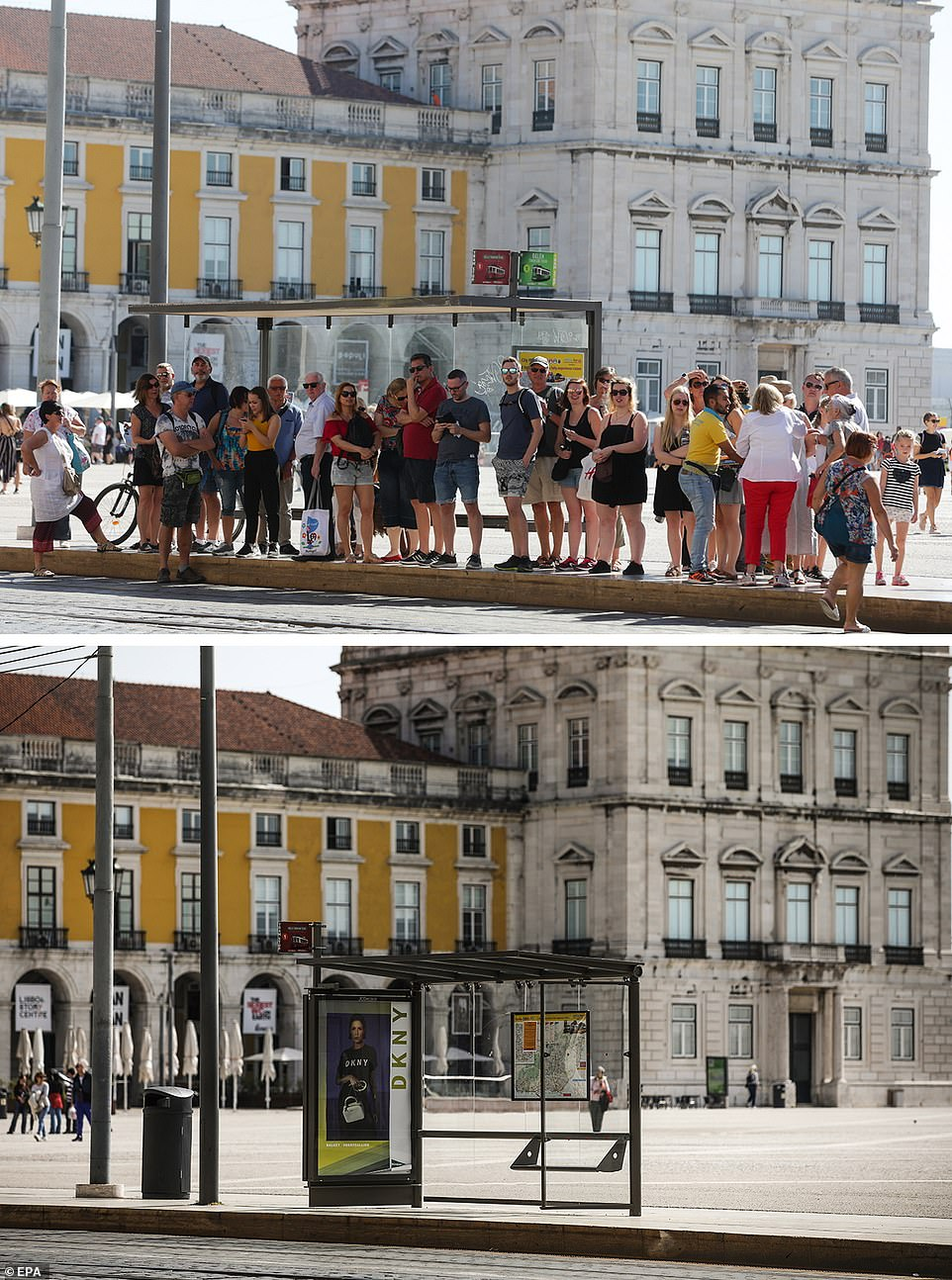 main squares in Lisbon, Portugal