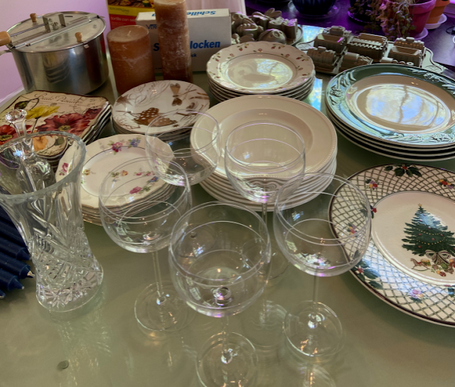 Dishes on the table