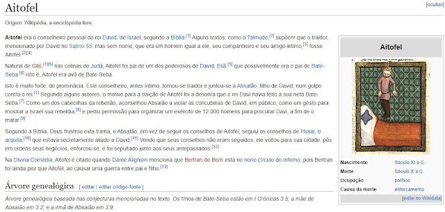 Sergio Moro e a síndrome de Aitofel - o traidor de Davi