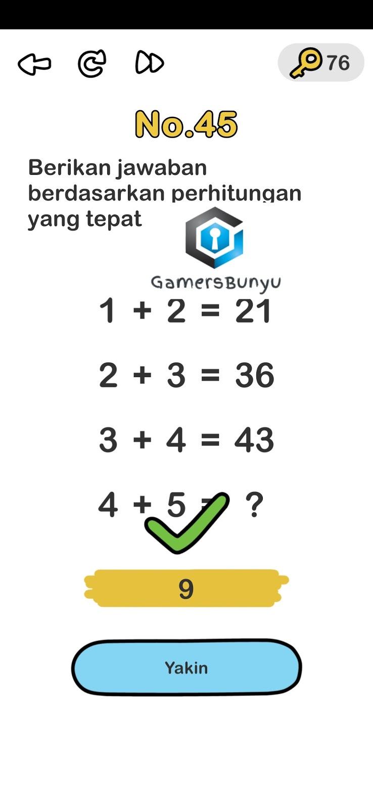 Jawaban Brain Out Level 41 42 43 44 45 46 47 48 49 50 Gamers Bunyu