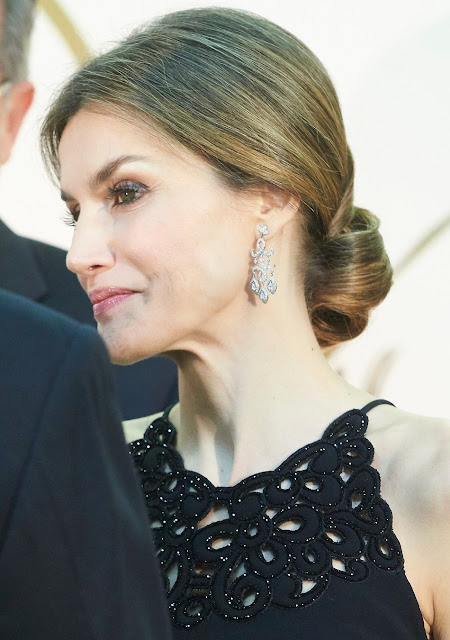 Queen Letizia of Spain and King Felipe VI of Spain attends the 'Mariano De Cavia' awards
