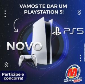 Cadastrar Promoção Playstation 5 Metropolitana FM Sorteio - Participar Whatsapp