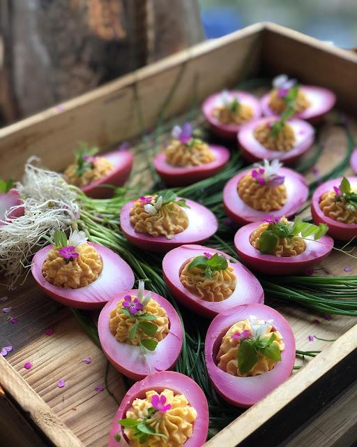 Spring Garden Deviled Eggs
