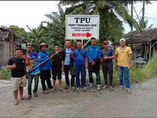 FAM DL Bersama Karang Taruna Desa Lalang Gelar Aksi Gotong Royong