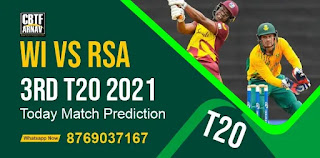 WI vs SA 3rd Match South Africa tour of West Indies T20 100% Sure Match Prediction