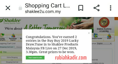 Lucky Draw Shaklee