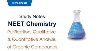 Purification, Qualitative and Quantitative Analysis of Organic Compounds