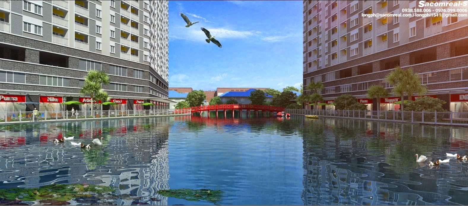 Phối cảnh mặt hồ trong dự án căn hộ Jamona Apartment