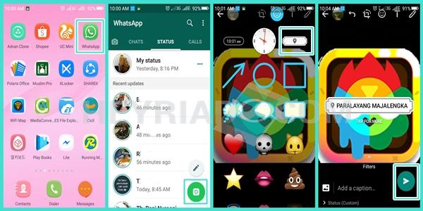 Cara Membuat Lokasi di Status Story Whatsapp