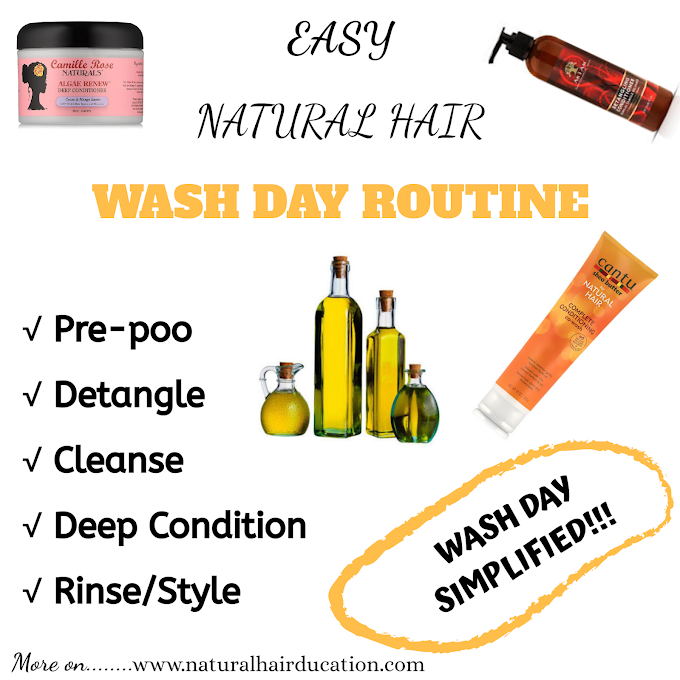 Easy Natural Hair Wash Day Routine