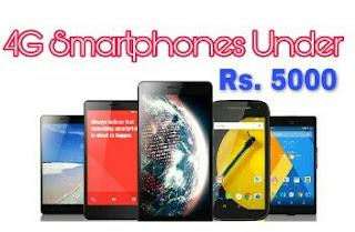 4g Smartphones under Rs. 5000