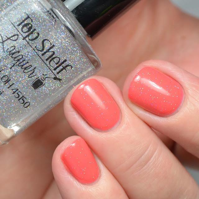 silver holo nail polish swatch