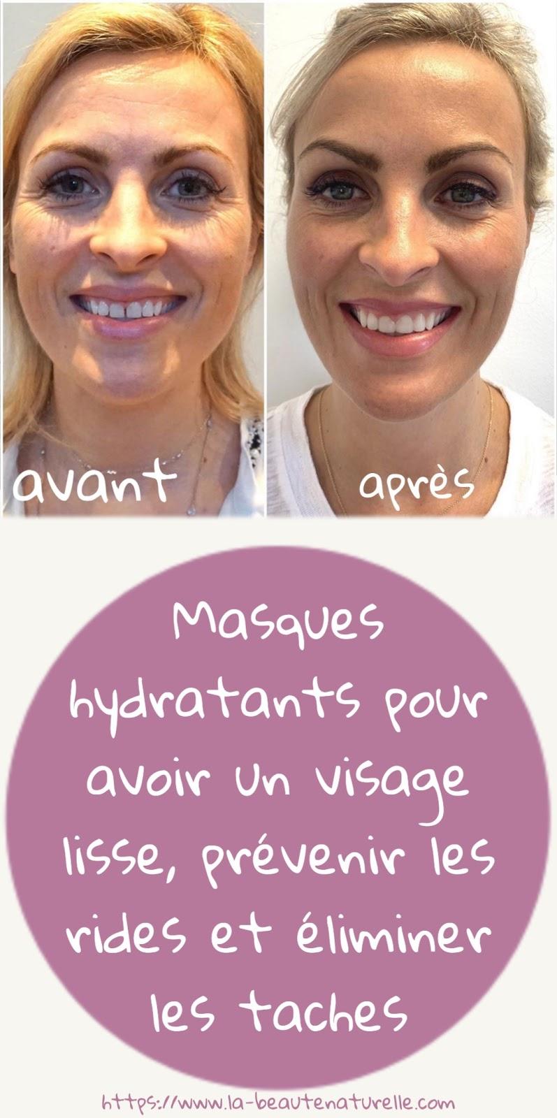 Masques hydratants pour avoir un visage lisse, prévenir les rides et éliminer les taches