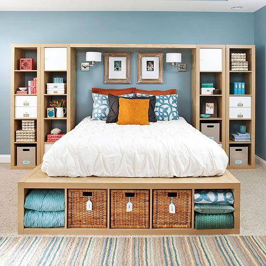 small bedroom storage idea