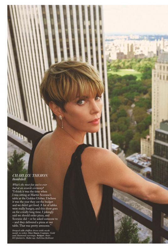 Charlize Theron Featured in Vogue Magazine - UK February 2020