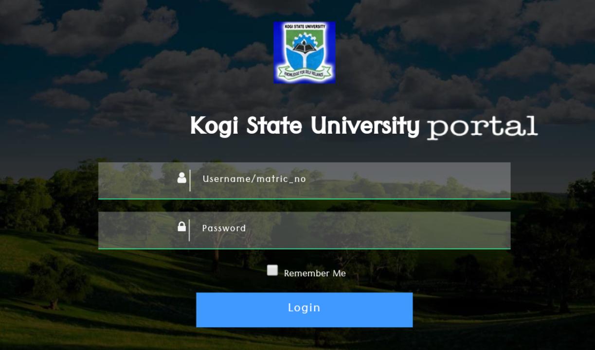 kogi state university portal login