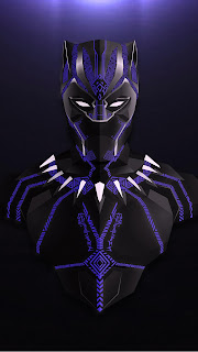 Black Panther Lowpoly Mobile HD Wallpaper