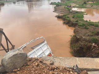 A lorry fell in River Mbogolo. PHOTO | Courtesy