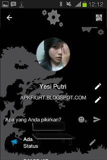 BBM Tema Alone Black v2.13.1.14 Apk Terbaru