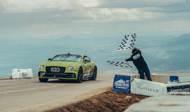 Bentley Continental GT Sets New Pikes Peak Record For ...
