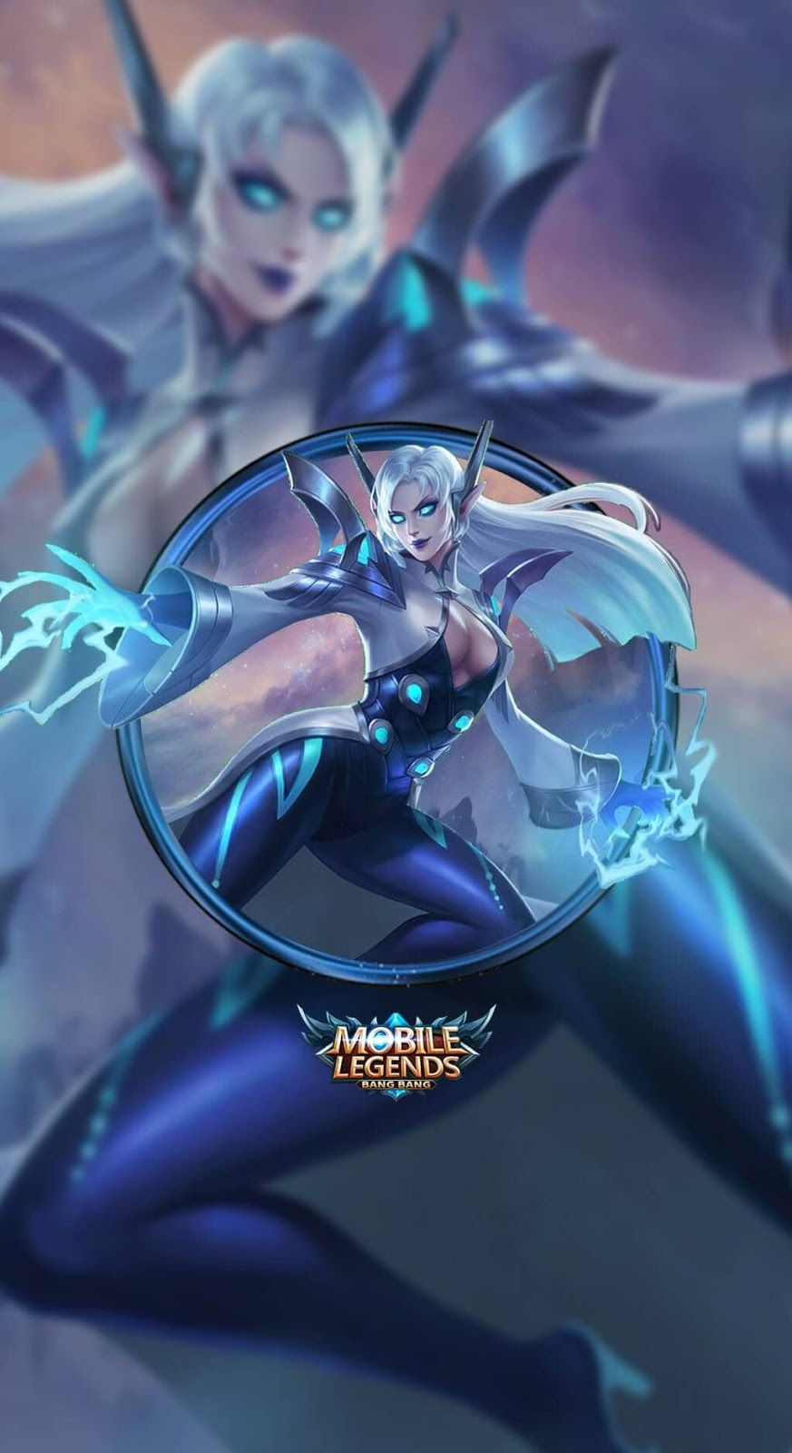 Wallpaper Eudora Lightning Sorceress Skins Mobile Legends HD for Mobile