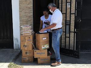 Coronavirus: Entregan víveres a venezolanos en situación de pobreza en Perú