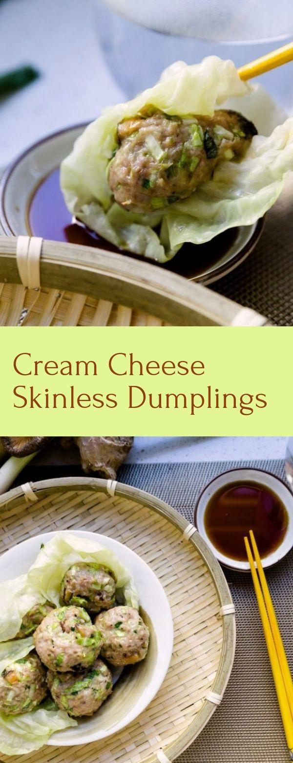 Cream Cheese Skinless Dumplings
