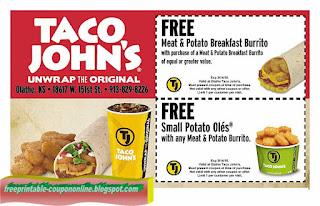 Free Printable Taco Johns Coupons