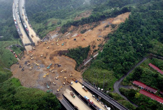 Over 200 families feared buried by landslides