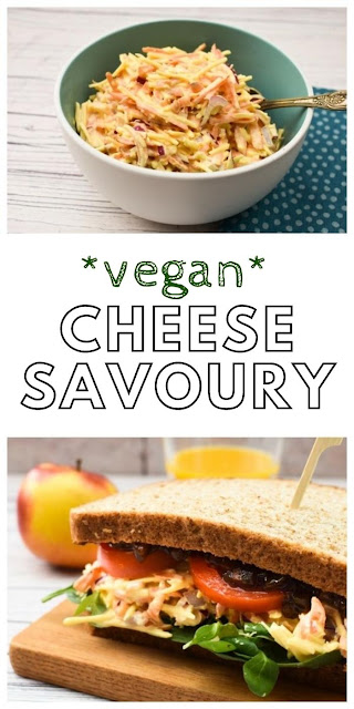 Vegan Cheese Savoury Sandwich Filling.A vegan version of that traditional British sandwich filling cheese savoury.