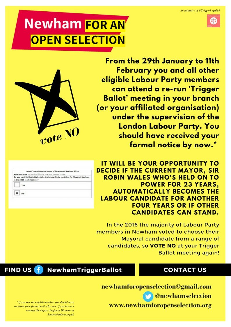 Johns labour blog newham for an open selection saturday january 27 2018 spiritdancerdesigns Images