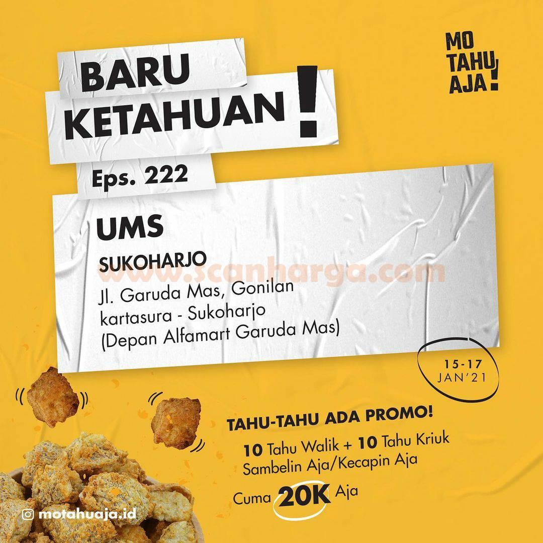 Mo Tahu Aja UMS Sukoharjo Opening Promo Paket 20 Tahu cuma Rp 20.000