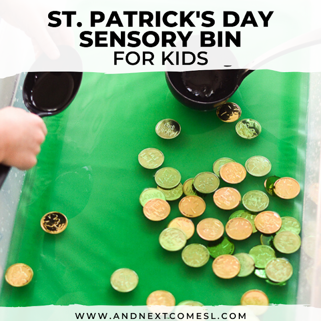 Sensory soup activity for St. Patrick's Day
