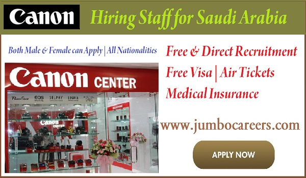 Latest canon company jobs in Saudi Arabia, New jobs in Saudi Arabia,