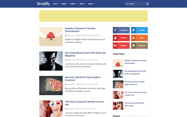 Simplify 2 Free Blogger Template