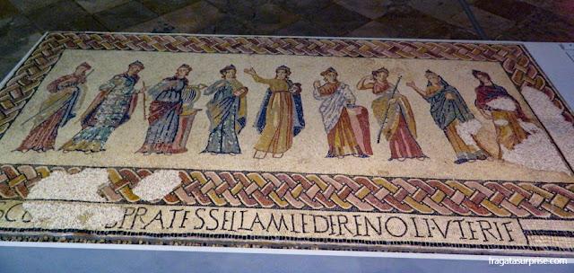 Mosaico das Musas, Museu de Arqueologia de Lisboa
