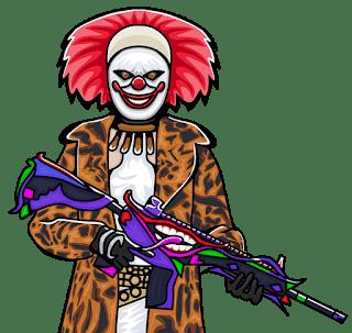 Best Pubg Joker character moscot Gaming logo