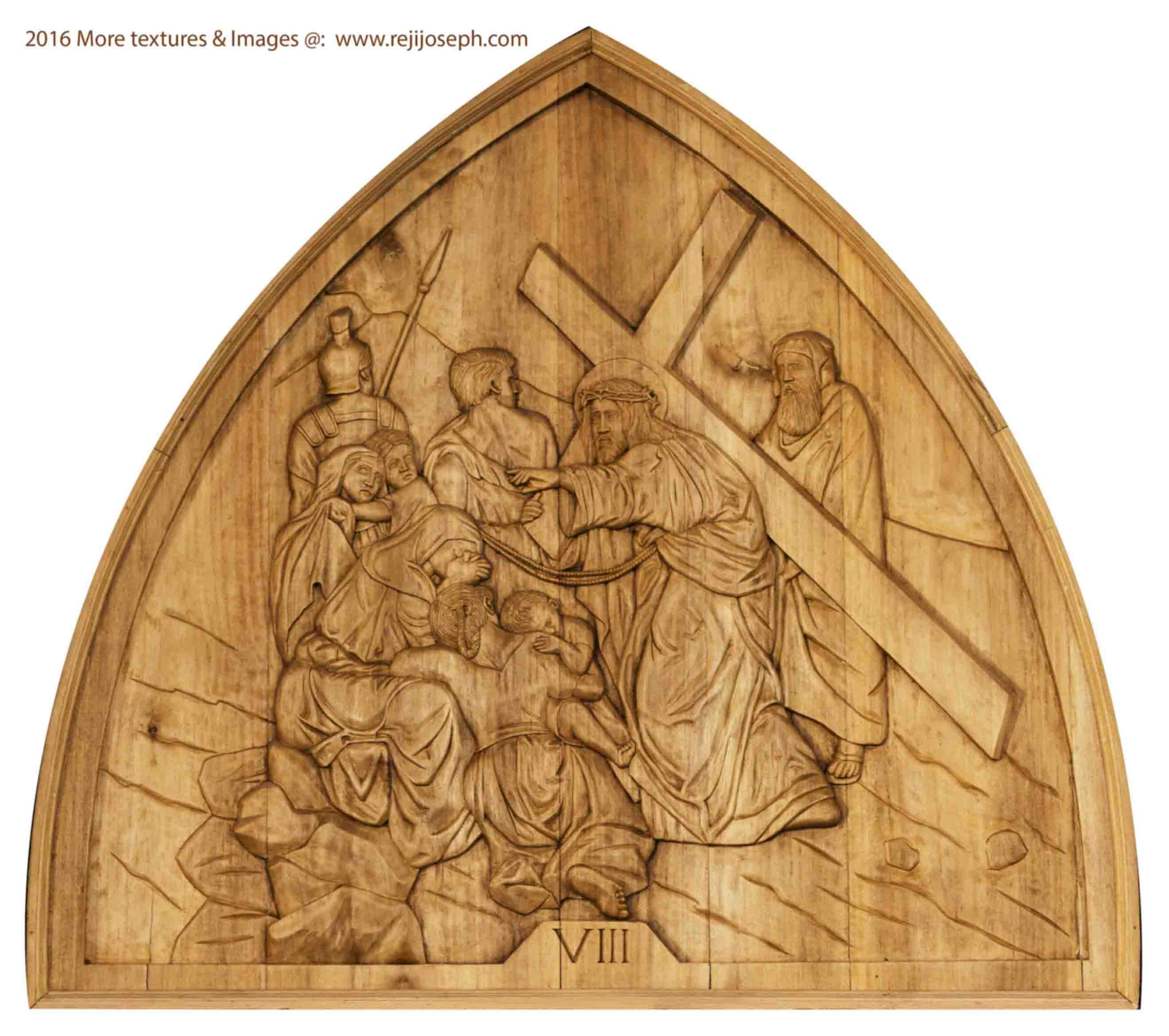 Way of the cross wooden relief 008