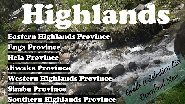 2021 Grade 11 Selection List Highlands Region Secondary Schools