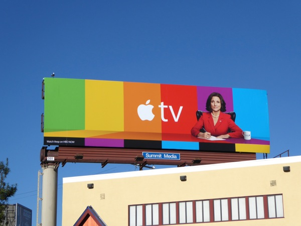 Apple TV Veep billboard