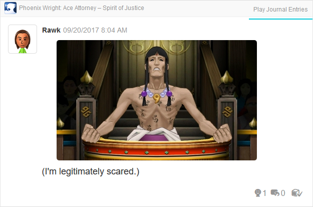 Phoenix Wright Ace Attorney Spirit of Justice Tahruust Inmee Maya Fey muscles chest