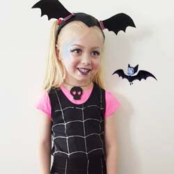 How to make a vamperina vampire disney no sew dress up costume DIY tutorial