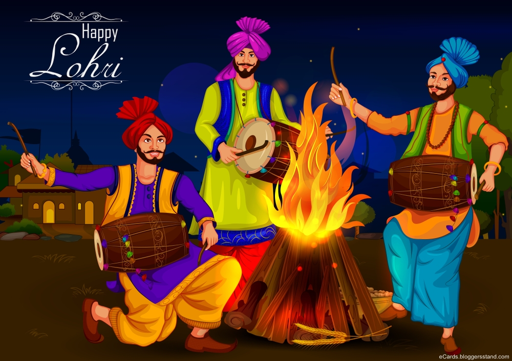 Happy lohri 2021 celebration punjabi image