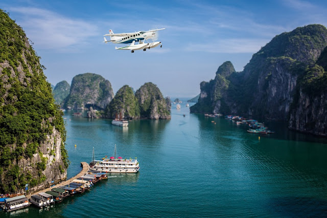 Discover the beauty of Halong Bay from above on seaplanes 2