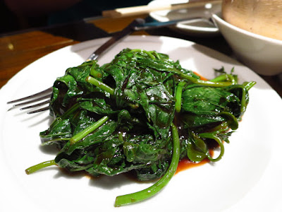 Soup Restaurant (三盅兩件), stir fried sweet potato leaves