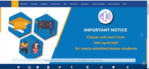 KIU Notfication - Classes Will Start From 15 April 2021
