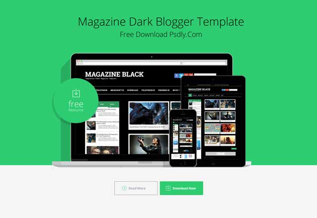 Magazine Dark Blogger Template